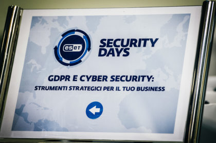 ESET Security Days Roma – GDPR e Cyber Security: strumenti strategici per il tuo business